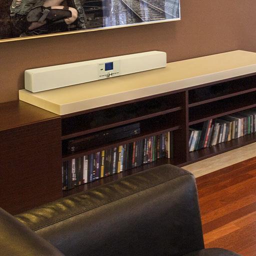white elegant modern soundbars