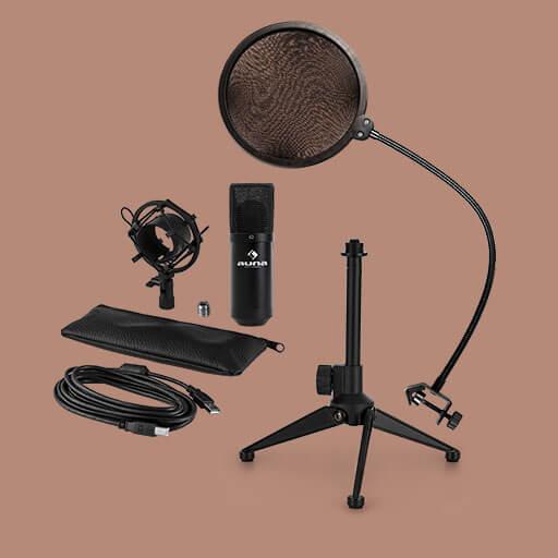 Das >MIC-900B USB V2 Mikrofon-Set bietet alles, was man für professionelle Aufnahmen braucht.