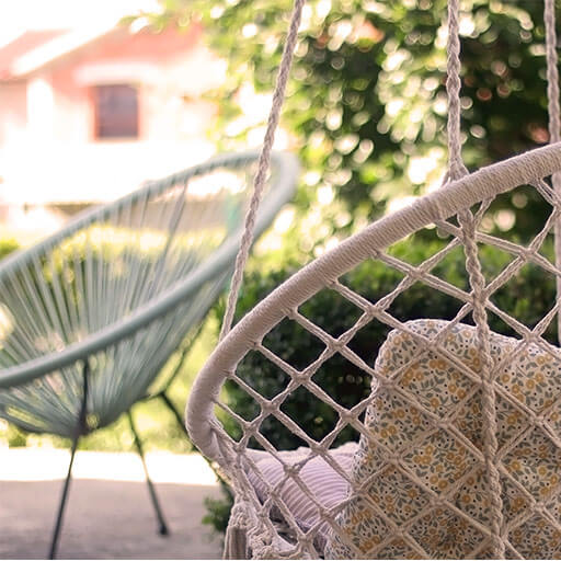 cozy garden swing chair