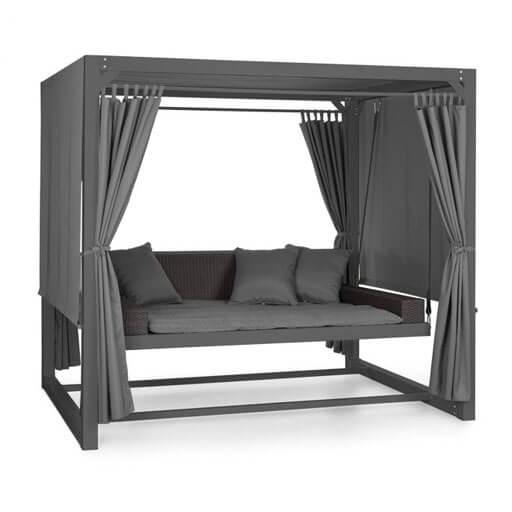 Eremitage Luxury Bench Swing 236x180x210cm Dark Grey / Black