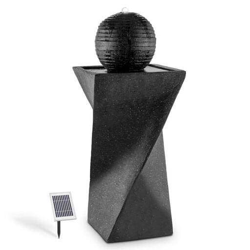 Blumfeldt Eremitage Balancelle de luxe 236x180x210cm - gris foncé & noir