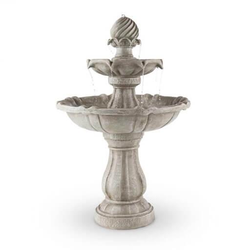 Bird Bath Garden Fountain Solar Powered Concrete Stone Look60x90cm 3W