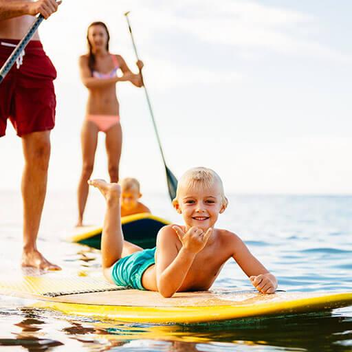 SUP Boards - Auch für die Kleinen!