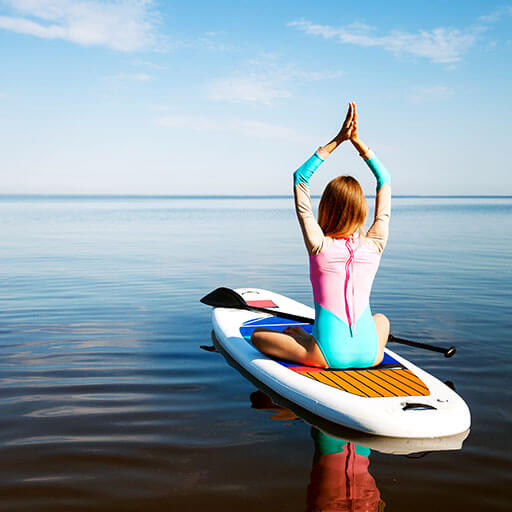 SUP Yoga - Trendsport auf dem Wasser