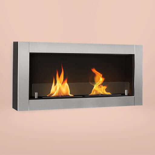 The Phantasma Modern ethanol fireplace creates a romantic atmosphere at any time thanks to a real flame.