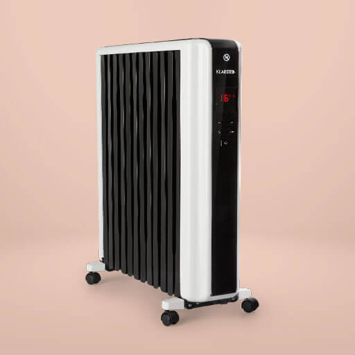 The Klarstein Thermaxx 2500 oil radiator ensures pleasantly warm room air on cold winter days.