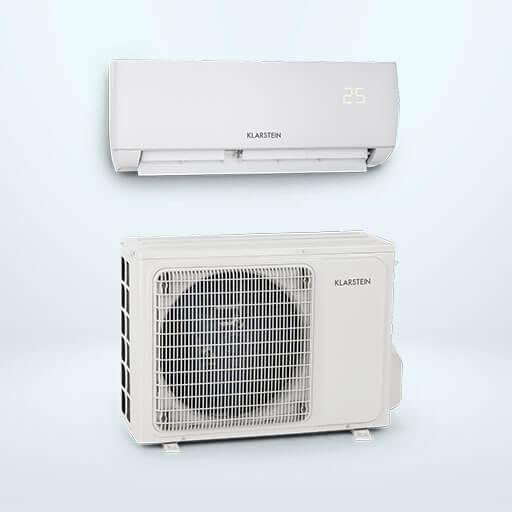 Mit der leistungsstarken und umweltschonenden Klarstein Windwaker Eco Split-Klimaanlage dank vieler Einstellungsmöglichkeiten jederzeit ein perfektes Raumklima