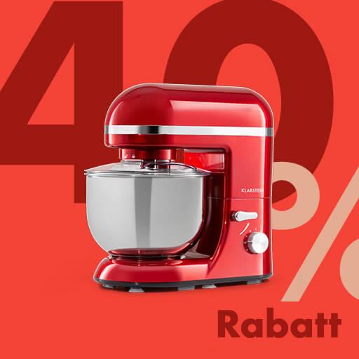 Bella Elegance Küchenmaschine Rührmaschine | 1300 W / 1,7 PS in 6 Leistungsstufen mit Pulsfunktion | Planetarisches Rührsystem | 5 l Edelstahlschüssel | Rühr- & Knethaken aus Aluminium-Druckguss, Schneebesen aus Edelstahl | rot